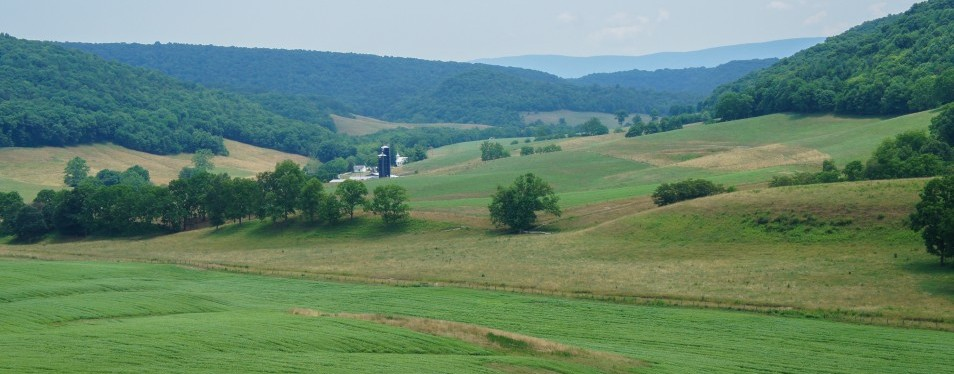 Larew Farm located in the Hans Creek Valley near Greenville, West Virginia